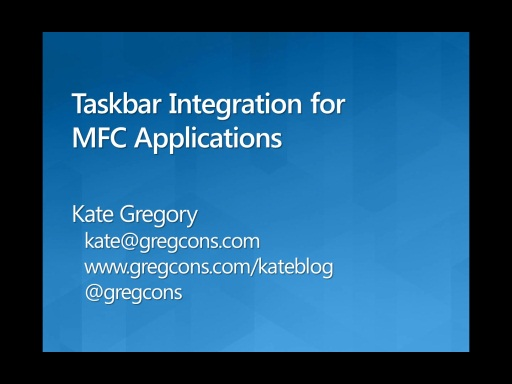 Windows 7 Taskbar Integration for MFC Applications