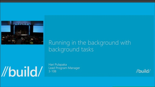 Running in the Background Using Background Tasks