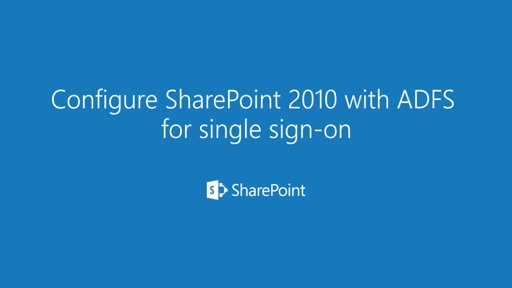 How to configure federated identity sign-in model for SharePoint 2010