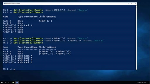 Fault Domain Awareness in WS2016 - Part 2: Using PowerShell