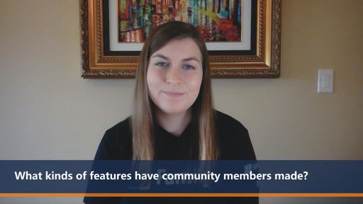 What kinds of features have community members made? | One Dev Question