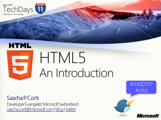 TechDays 11 Basel - Introduction to HTML5