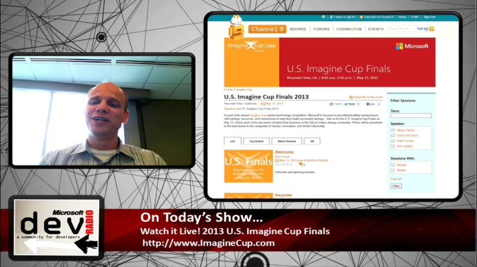Microsoft DevRadio: Be a Part of It! Watch the 2013 U.S. Imagine Cup Finals