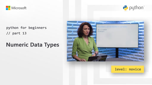 Python for Beginners [13 of 44] Numeric Data Types