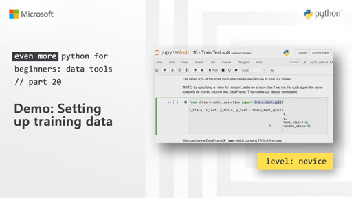 Demo: Setting up training data | Even More Python for Beginners - Data Tools  [20 of 31]