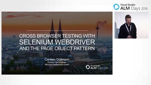 Cross-Browser Testautomation mit Selenium Web-Driver und dem Page-Object Pattern