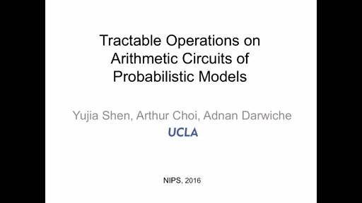 Tractable Operations for Arithmetic Circuits of Probabilistic Models