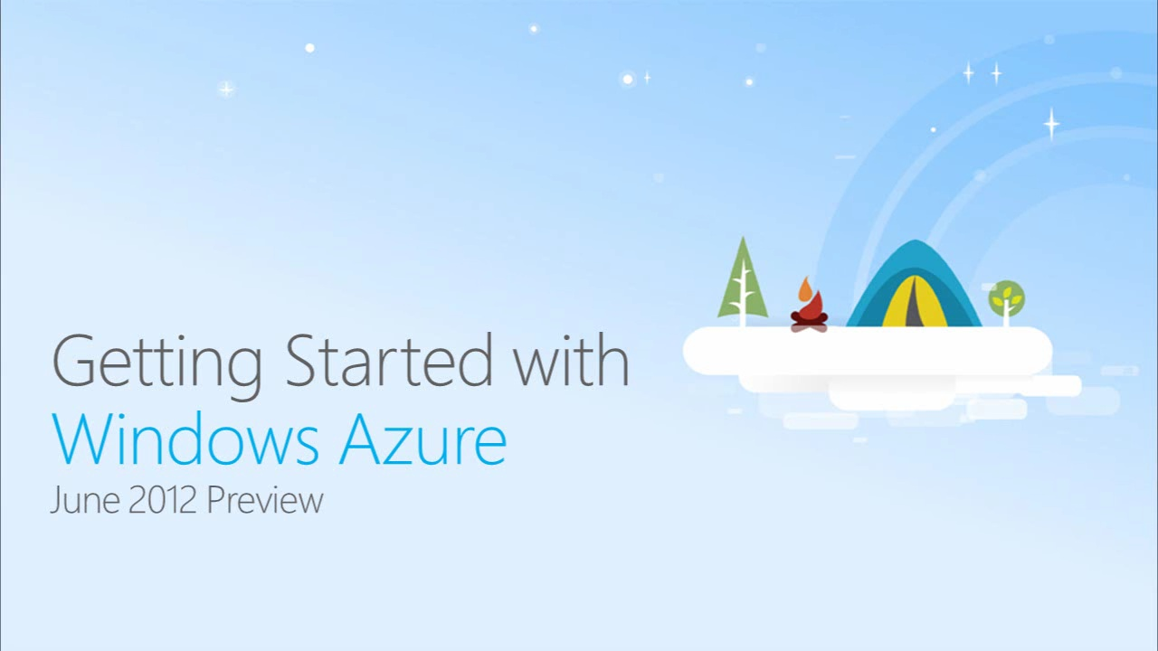 Getting Started with Windows Azure June 2012 Preview