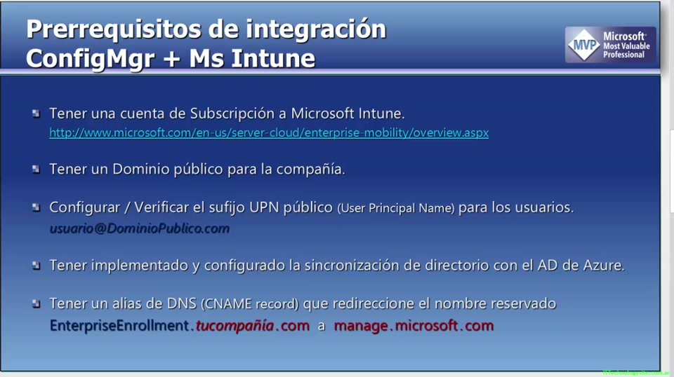 Configurando System Center R2 Configuration Manager 2012 con Ms Intune:  Prerrequisitos  (Parte 2/2)