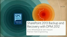 SharePoint 2013 Backup and Recovery with DPM 2012