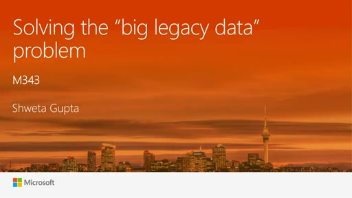 "Solving the ""big legacy data"" problem!"