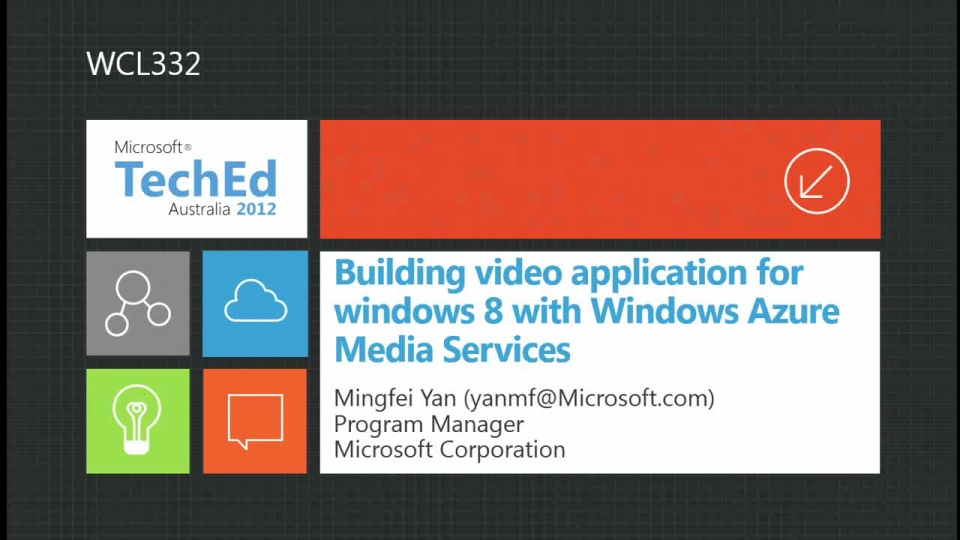 Building Video Application on Windows 8  with Windows Azure Media Service