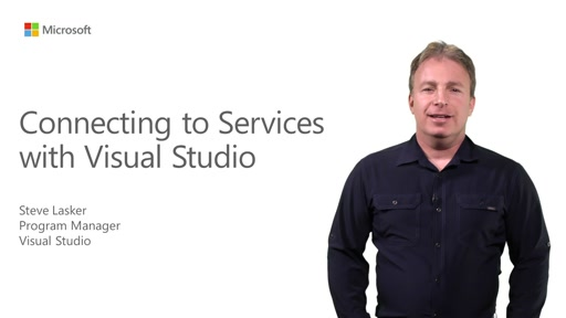 Connecting to Services with Visual Studio