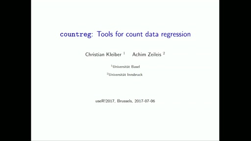 **countreg**: Tools for count data regression