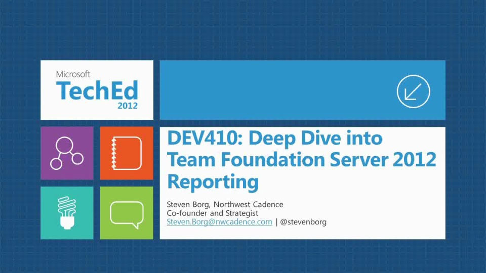 Deep Dive into Team Foundation Server 2012 Reporting