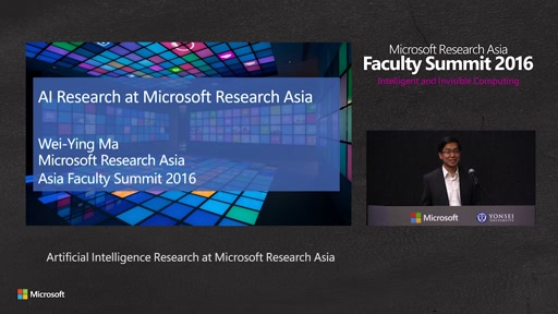 Artificial Intelligence Research at Microsoft Research Asia