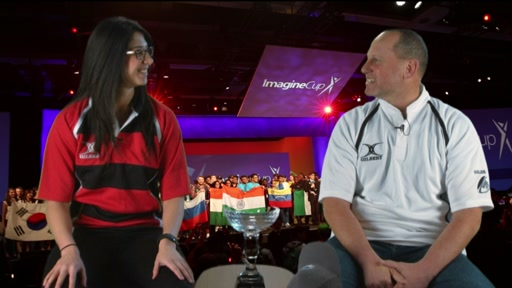 "Steve ""Guggs"" Guggenheimer  greets 2015 Imagine Cup competitors"