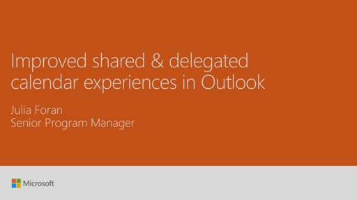 Improve shared and delegated calendar experiences in Microsoft Outlook