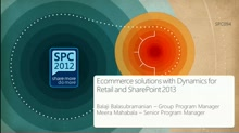 Ecommerce solutions with Dynamics for Retail and SharePoint 2013