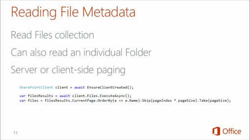 Deep Dive: Integrate Office 365 APIs in Your Web Apps: (04) Deep Dive into Office 365 APIs for SharePoint Sites Service