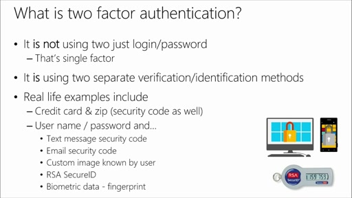 Customizing ASP.NET Authentication with Identity: (04) Two-Factor Authentication