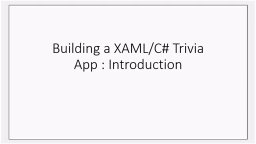How to build your first Windows 8 trivia app (Part 1): Introduction