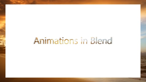 Creating Animations using Blend