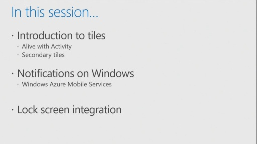 Building Windows Store Apps for iOS Developers: (07) Notifications