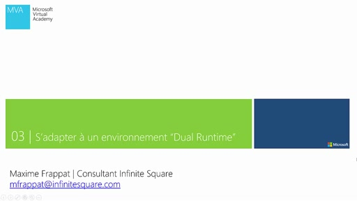 "03 | Unity - S'adapter à un environnement ""Dual Runtime"""