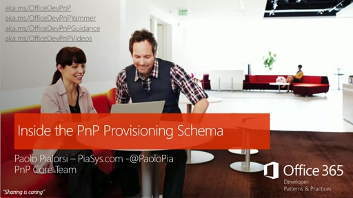 Deep dive to PnP provisioning engine schema