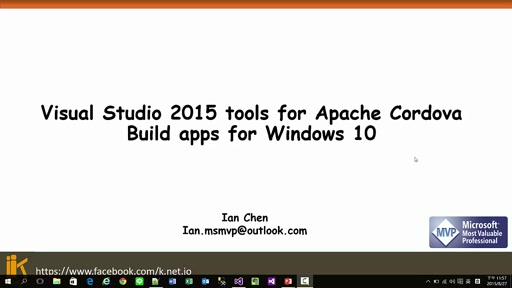 Visual Studio 2015 tools for Apache Cordova Build apps for Windows 10
