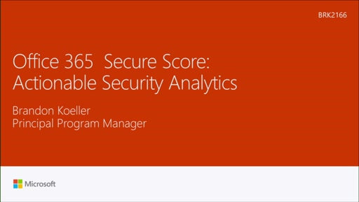 Learn about Office 365 Secure Score: actionable security analytics