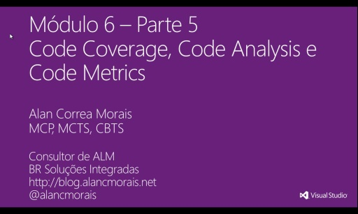 MVA Visual Studio para Teste de Software - Code Coverage, Code Analysis e Code Metrics