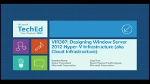 Designing Windows Server 2012 Hyper-V Infrastructure