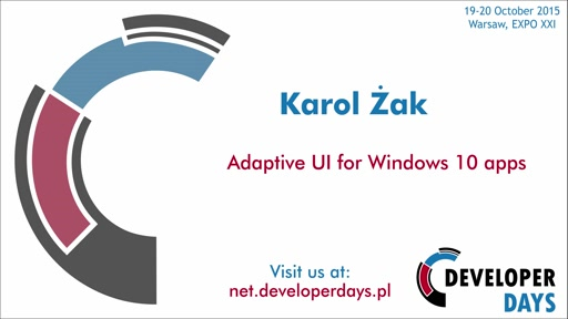 Adaptive UI for Windows 10 apps - Karol Żak