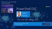 Windows PowerShell 5.0 Desired State Configuration (DSC)