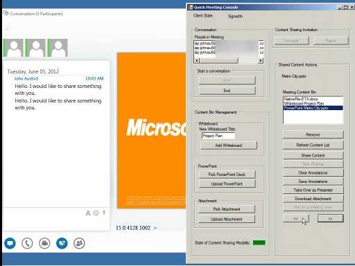 Lync 2013: Content Sharing: PowerPoint sharing