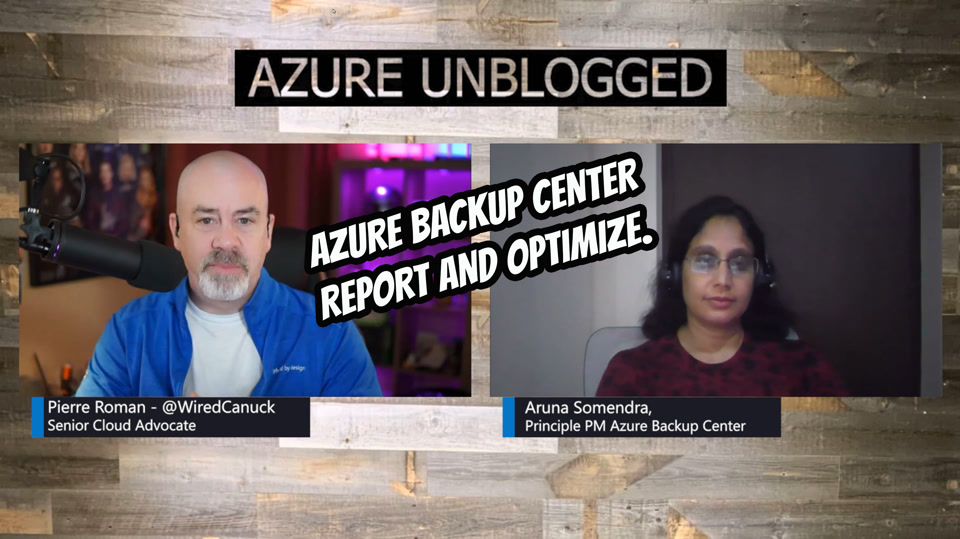 Azure Backup Center - Report on and Optimize your Backup environment.