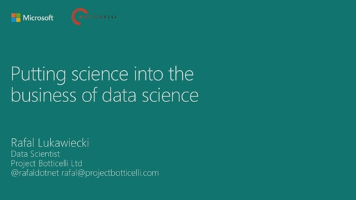 Putting Science into the Business of Data Science