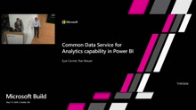 Common Data Service for Analytics capability in Power BI