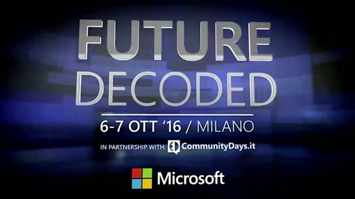 #FutureDecoded 7 Ottobre 2016 - Keynote