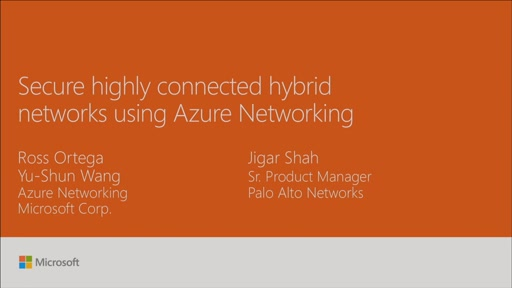 Secure highly connected hybrid networks using Azure Networking