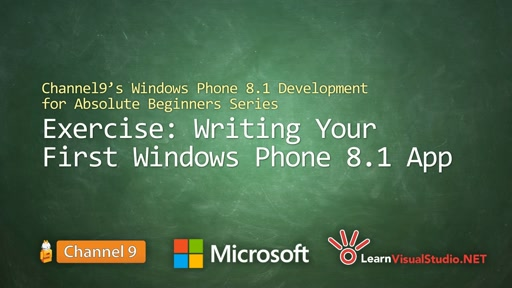 Part 2 - Exercise: Writing your First Windows Phone 8.1 App