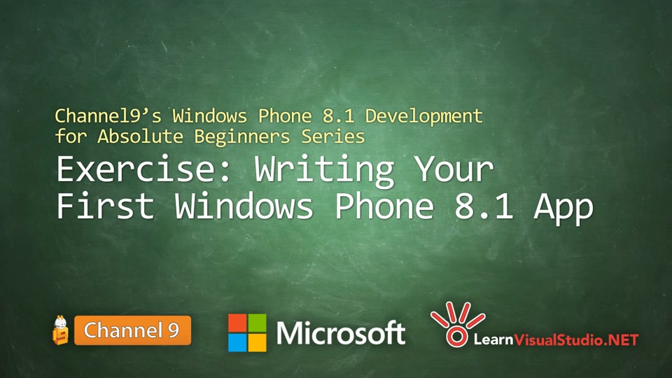 Part 2 - Exercise: Writing your First Windows Phone 8 1 App