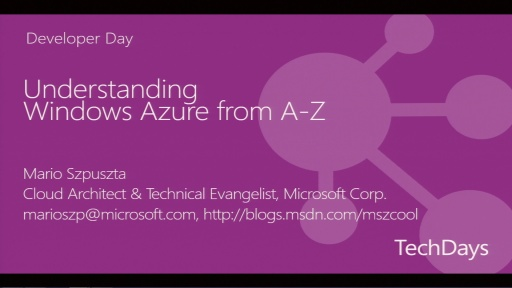 Windows Azure for Software Developers - Understanding Microsoft's Cloud