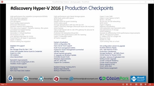 Hyper-V Production Checkpoints