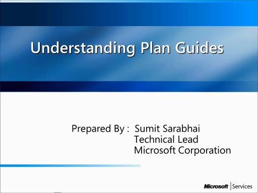 What are plan guides and how it could help in managing performance of the queries