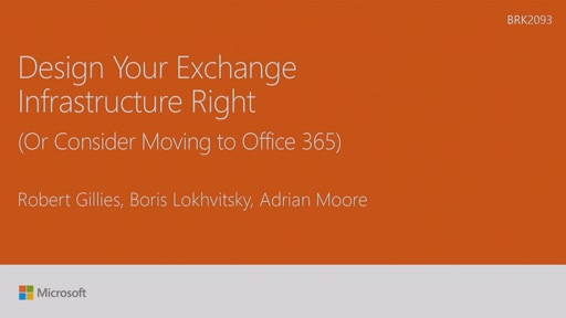 Design your Exchange infrastructure right (or consider moving to Office 365)