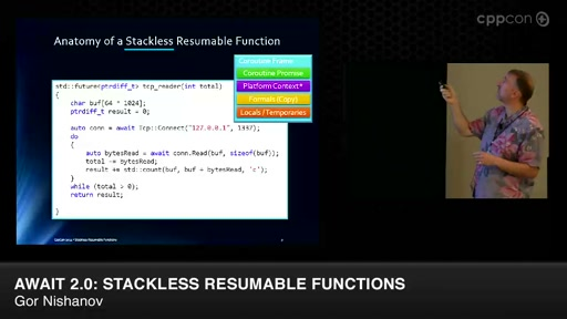 await 2.0: Stackless Resumable Functions