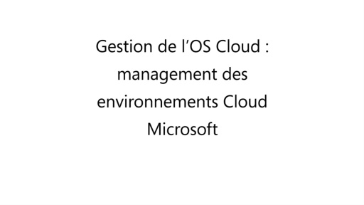 [Cloud Iaas] Gestion de l'OS Cloud